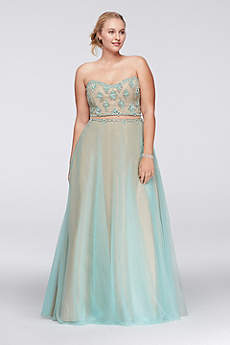 Long Ballgown Strapless Prom Dress - Glamour
