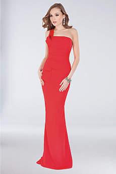 Long Mermaid/ Trumpet One Shoulder Formal Dresses Dress - Terani Couture