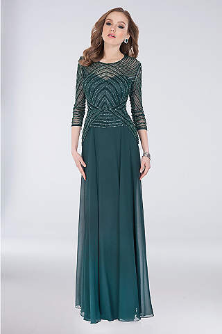 Long Sheath Sleeves Formal Dresses Dress