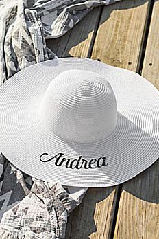 Personalized White Sun Hat 1625