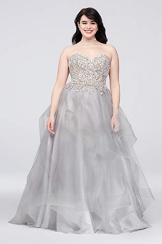 Plus Size Prom Dresses & Gowns for 2018 | David\'s Bridal