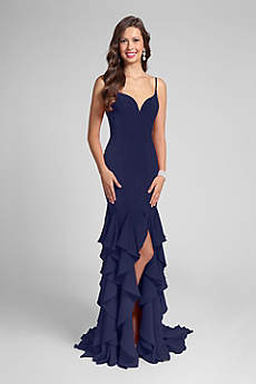 Long Sheath Spaghetti Strap Formal Dresses Dress - Terani Couture