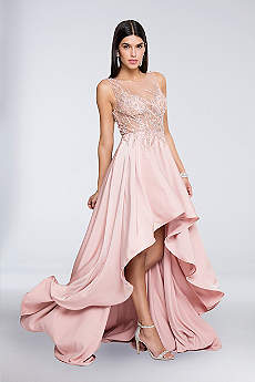 High Low Ballgown Tank Prom Dress - Terani Couture