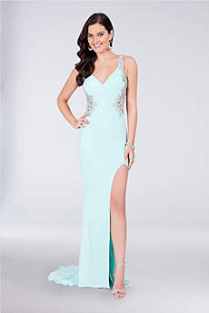 Long Sheath Tank Prom Dress - Terani Couture