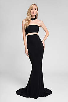 Long Sheath Strapless Formal Dresses Dress - Terani Couture