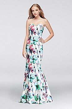 Floral Strapless Sweetheart Mermaid Dress 1715P3811