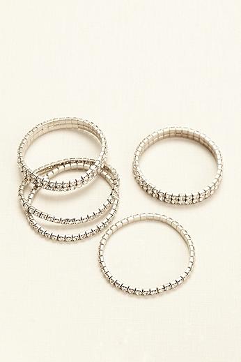 Five Piece Stretch Multi Crystal Bracelets 1741523
