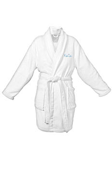 DB Exclusive Personalized White Plush Robe 1772