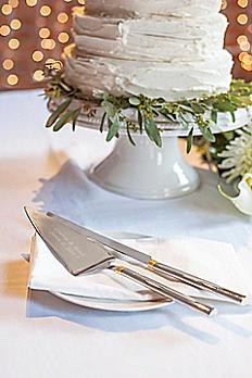Personalized Golden Cake Serving Set 1780