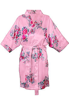 DB Exclusive Personalized Floral Satin Robe
