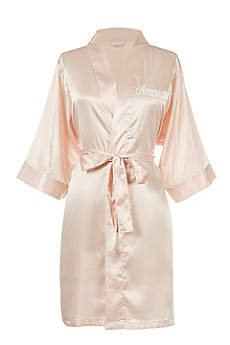 Personalized Embroidered Name Luxury Satin Robe