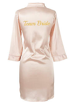 Glitter Script Team Bride Satin Night Shirt