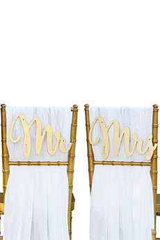 Gold Promises Classic Mr and Mrs Chair Signs