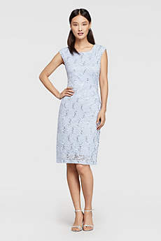Short Sheath Cap Sleeves Mother and Special Guest Dress - Ronni Nicole