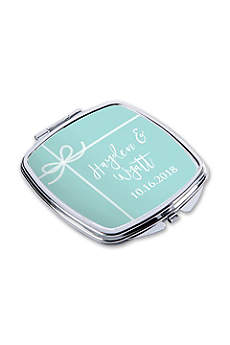 Personalized Something Blue Silver Metal Compact