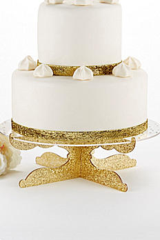 Party Time Gold Glitter Acrylic Cake Stand 18132GD