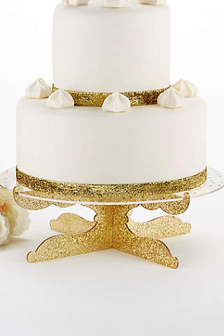 Wedding cake toppers davids bridal party time gold glitter acrylic cake stand junglespirit Gallery