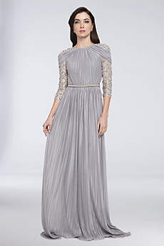 Long A-Line 3/4 Sleeves Formal Dresses Dress - Terani Couture