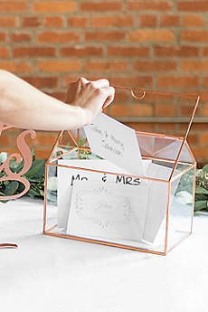 Personalized Glass Terrarium Card Holder
