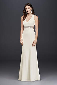 Long Sheath Beach Wedding Dress - Decode 18