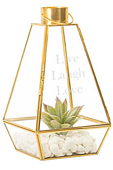 Personalized Gold Lantern Centerpiece 1879