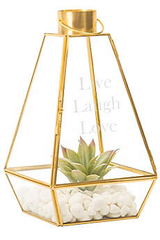Personalized Gold Lantern Centerpiece