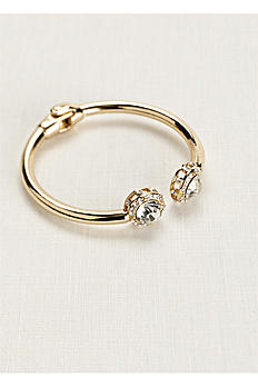 Pave and Crystal Hinge Cuff 188285
