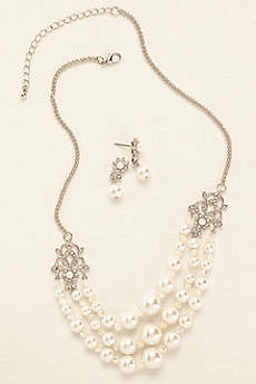 Scroll Pearl Crystal Set