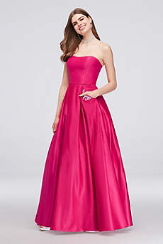 Long Ballgown Strapless Guest of Wedding Dress - Blondie Nites