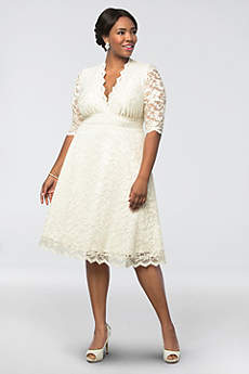 Short Casual Wedding Dress - Kiyonna