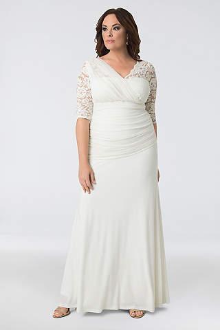 Short Plus Size Wedding Dresses | Davids Bridal