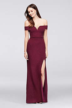 Long Sheath Off the Shoulder Formal Dresses Dress - City Triangles