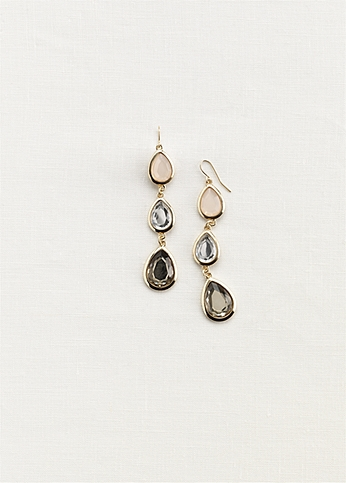 Faceted Geo Drop Earrings 20000576ER