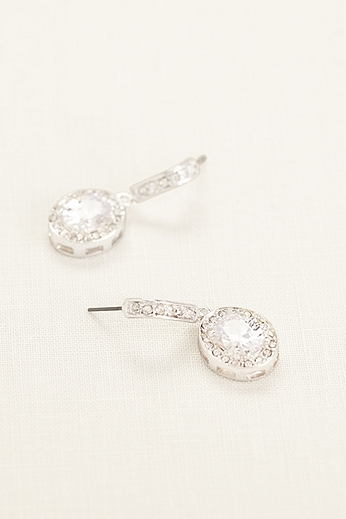 Pave Crystal Drop Earrings 20001090ER