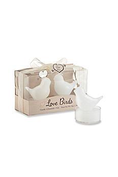 Love Birds White Bird Tea Candle Favor 20146NA