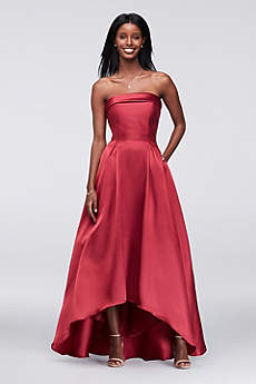 High Low Ballgown Strapless Prom Dress - Xscape