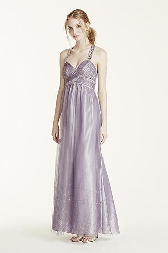 Glitter Tulle X-Back Dress 211S62670