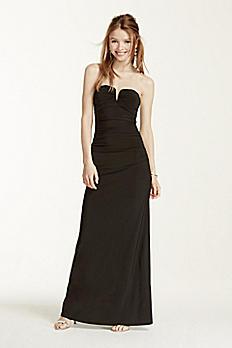 Deep V-Bar Strapless Jersey Dress 211S64480