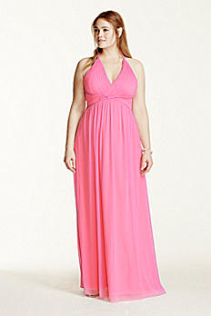 Two Tone Plunge Neckline Braided Detail Dress 211S65220W