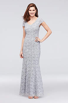 Long Mermaid/ Trumpet Cap Sleeves Formal Dresses Dress - Alex Evenings