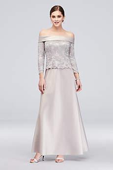 Long A-Line Off the Shoulder Formal Dresses Dress - Alex Evenings