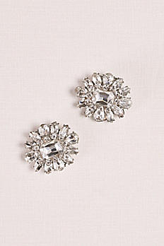 Crystal Flower Shoe Clips 213125
