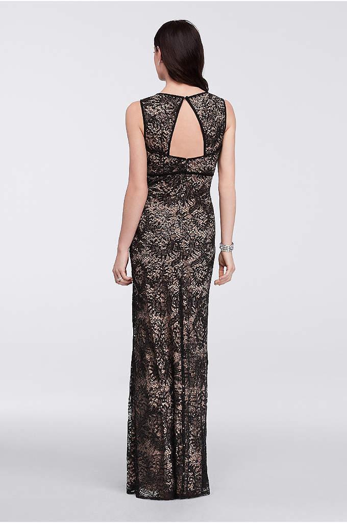 One Shoulder Lace Dress With Short Chiffon Skirt Davids