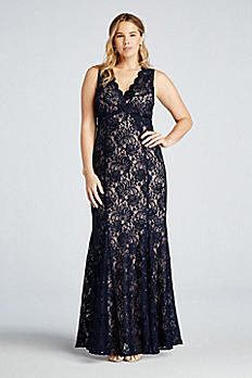 Sleeveless Sequin Lace Dress with Open Back 21384W