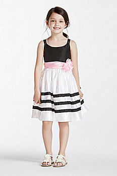 Black and White Striped Gown with Sash 2150087