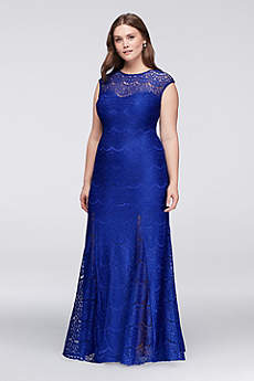Long Cap Sleeves Prom Dress - Morgan and Co