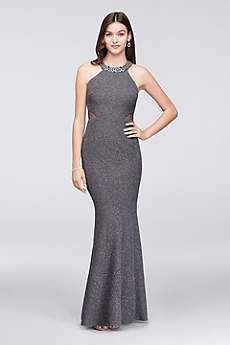 Long Mermaid/ Trumpet Halter Prom Dress - Morgan and Co