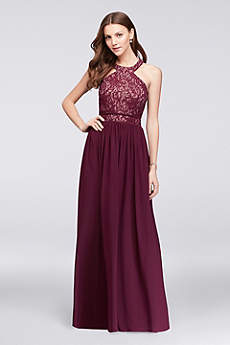Long A-Line Halter Formal Dresses Dress - Morgan and Co