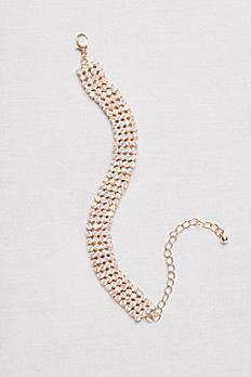 Four-Row Rhinestone Bracelet 21751B