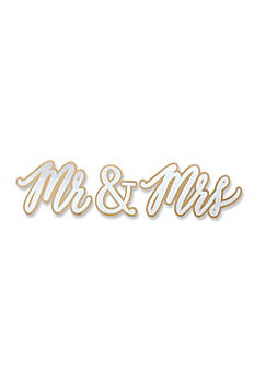 Gold Mr and Mrs Sweetheart Table Sign 22069NA